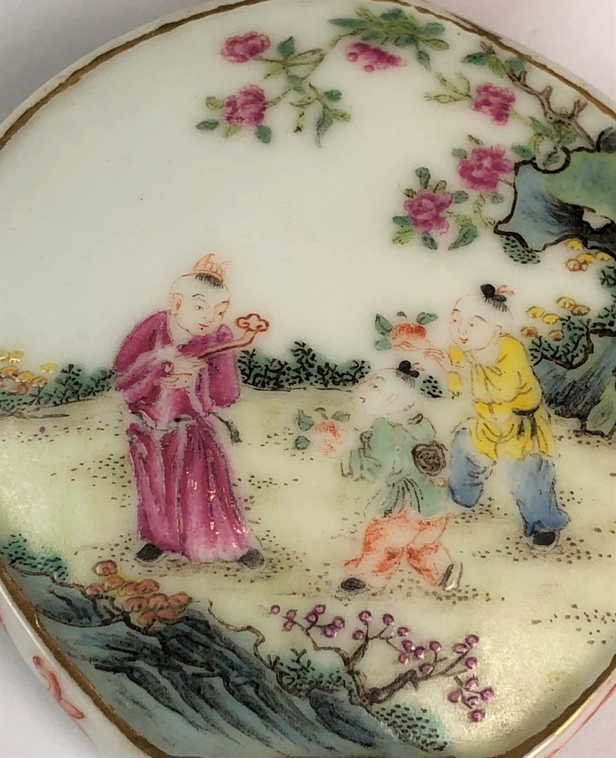 Chinese Famille Rose Porcelain Snuff Bottle W Mark - 5