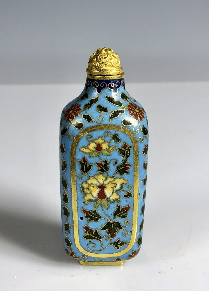 A Chinese Cloisonne Enamel Snuff Bottle With Mark