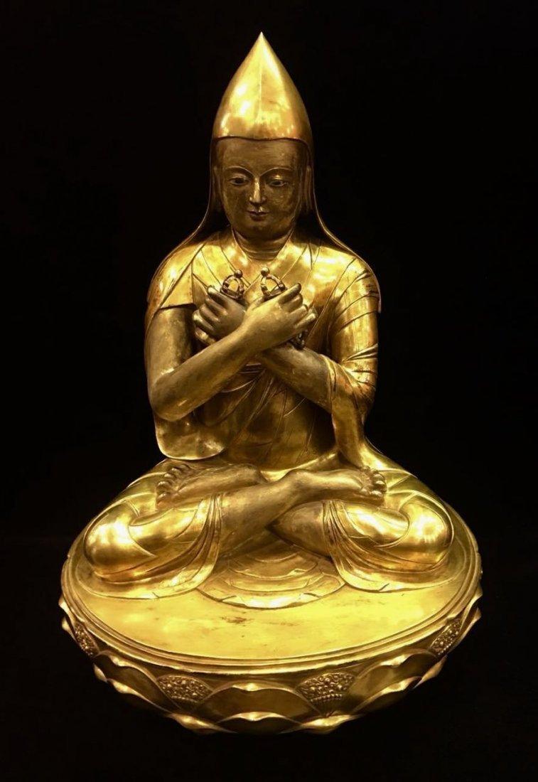 A Large Gilt Figure Of  Buddha