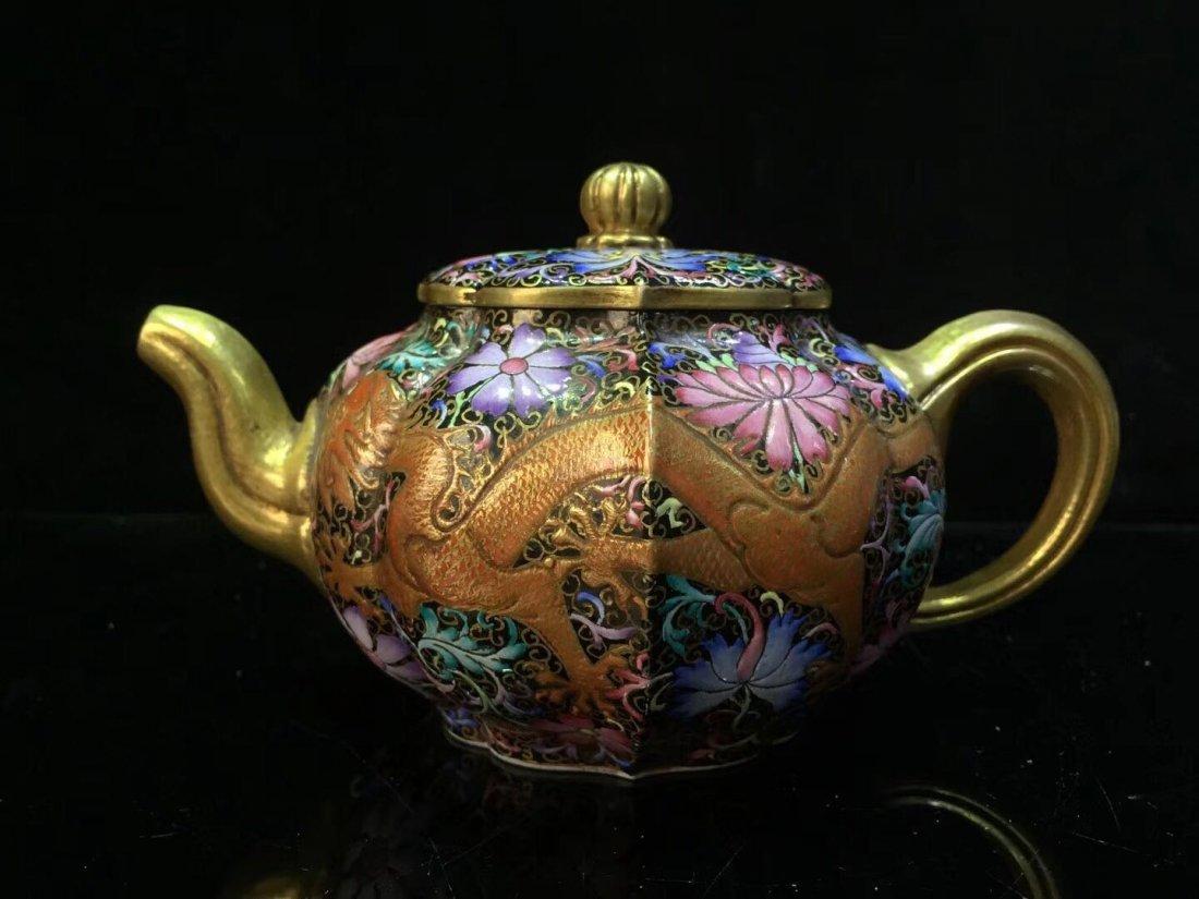 A enamel ZiSha Tea Pot