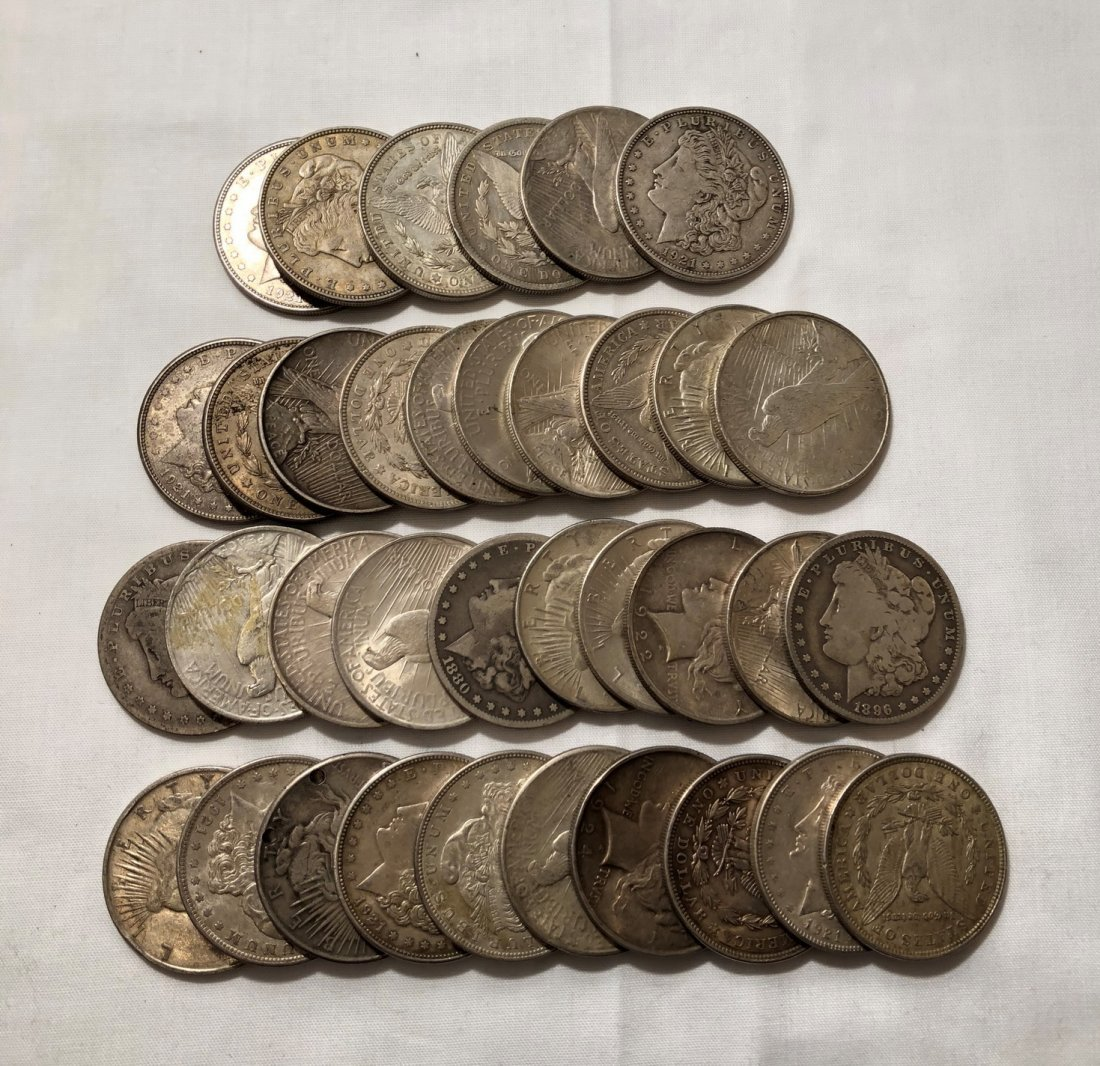 Pre 1905 Morgan Silver Dollars US Coin Lot