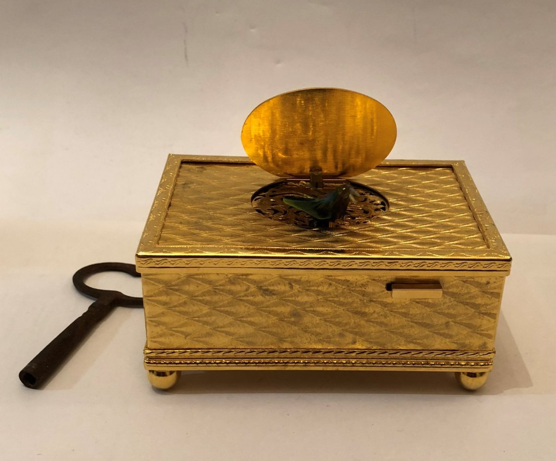 Gilt-Bronze Automaton  Singing Bird Box