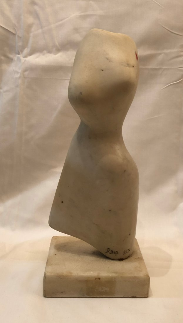 Marble Sculpture Signed