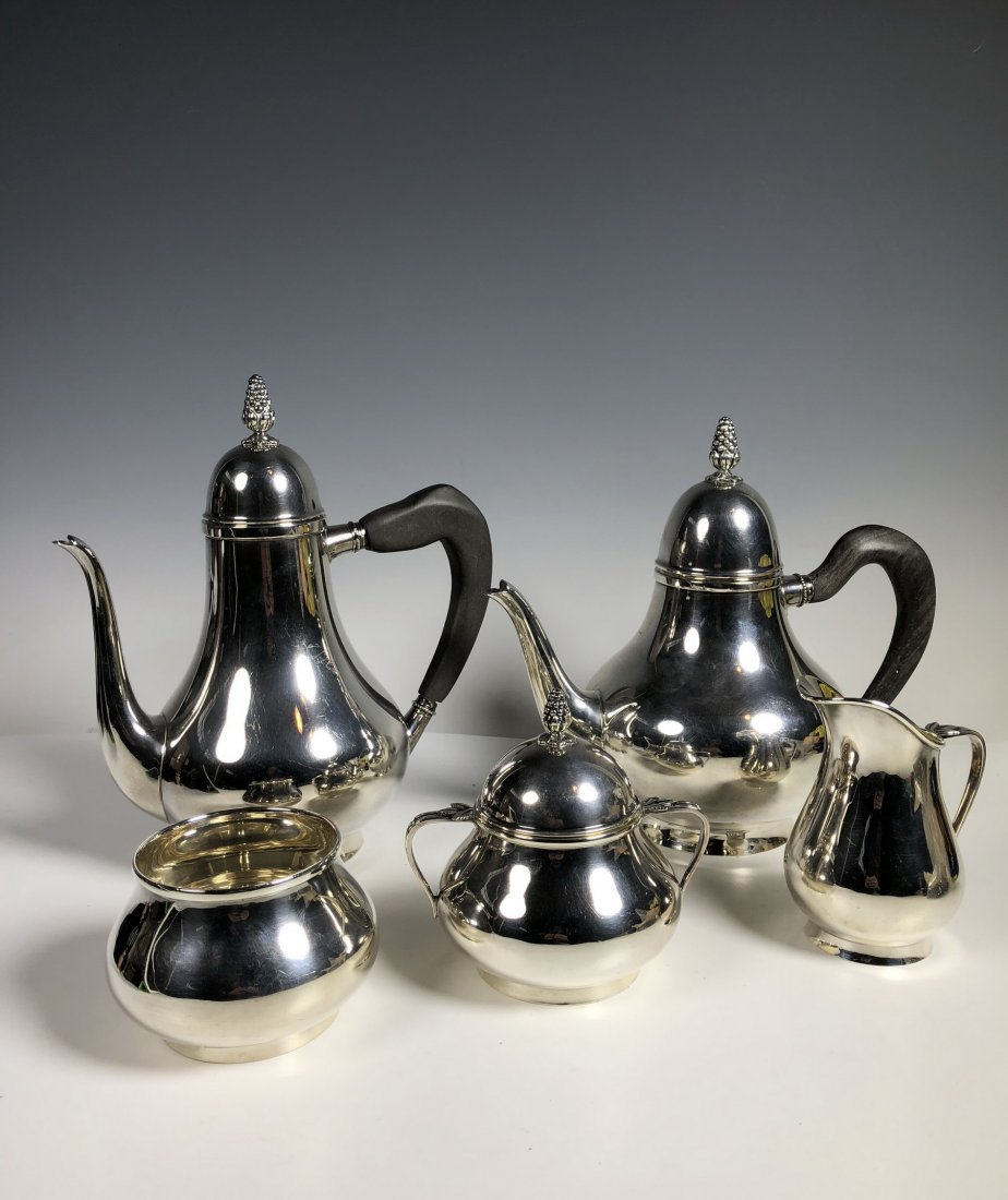Fine Vintage 5PC Tiffany&Co. Sterling Silver Coffee Set