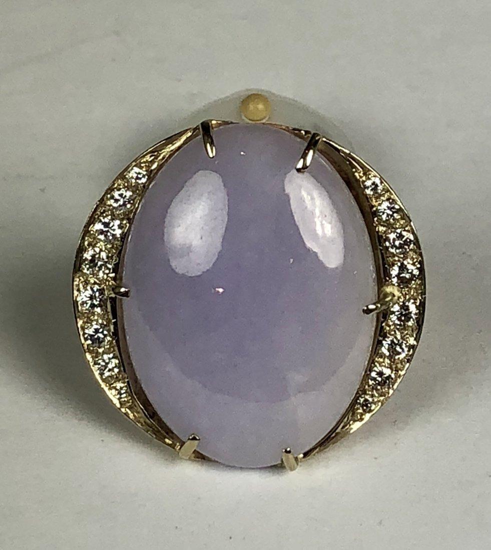 14k Natural Untreated Jadeite Ring