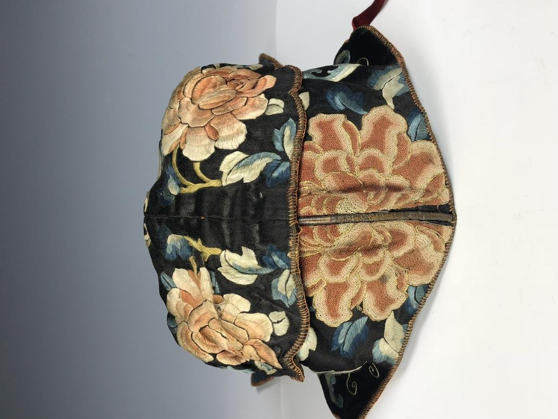A Chinese Silk Embroidered Hat - 11
