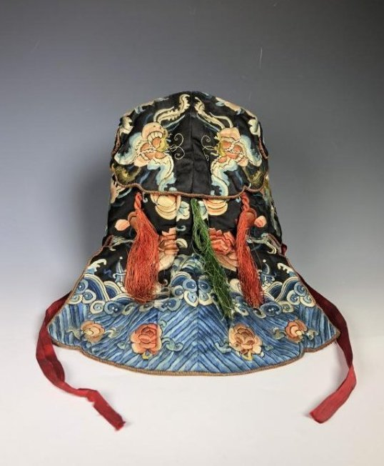 A Chinese Silk Embroidered Hat