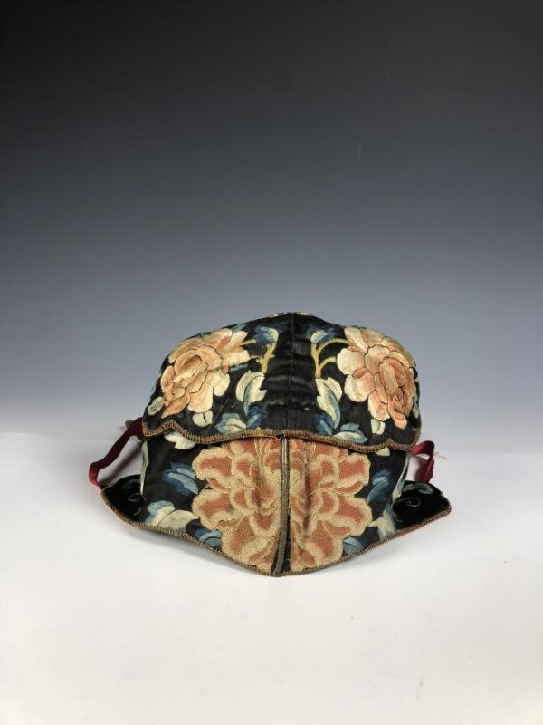 A Chinese Silk Embroidered Hat - 3