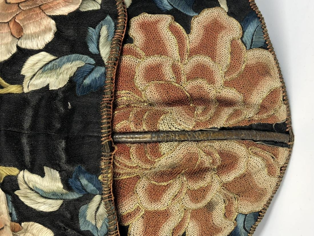 A Chinese Silk Embroidered Hat - 9