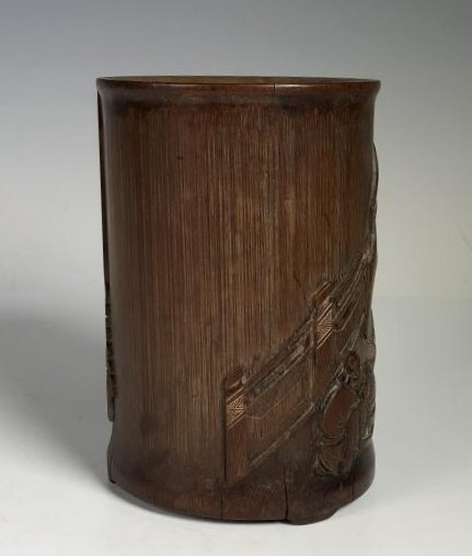 Carved Bamboo Brush Pot - 13