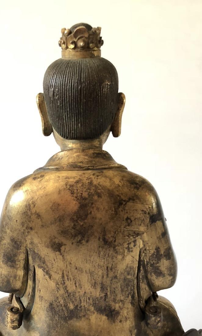A Rare Gilt Bronze Taoist Figure Holding A Ruyi - 6