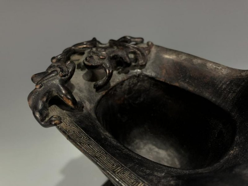 Chinese Agarwood Chen Xiang Libation Cup with Base - 11