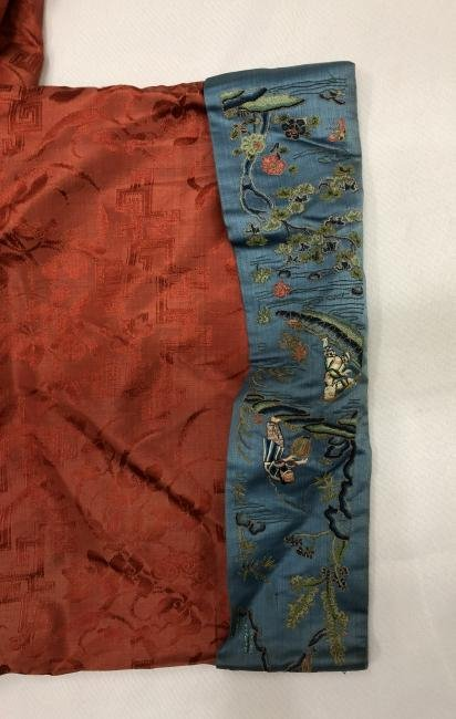 Chinese Embroidered Silk Robe - 11