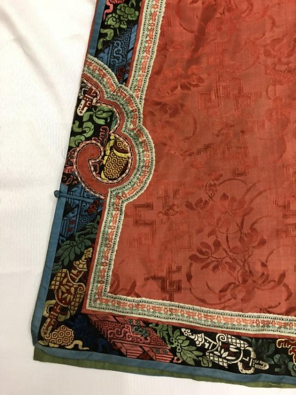 Chinese Embroidered Silk Robe - 2
