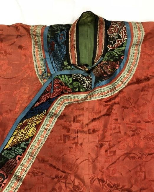 Chinese Embroidered Silk Robe - 5