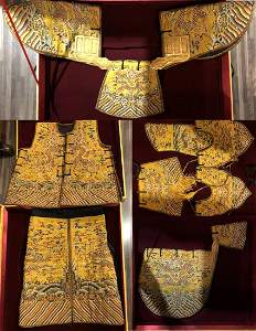 Very Rare Imperial Yellow Embroidered Dragon Robe/Armor