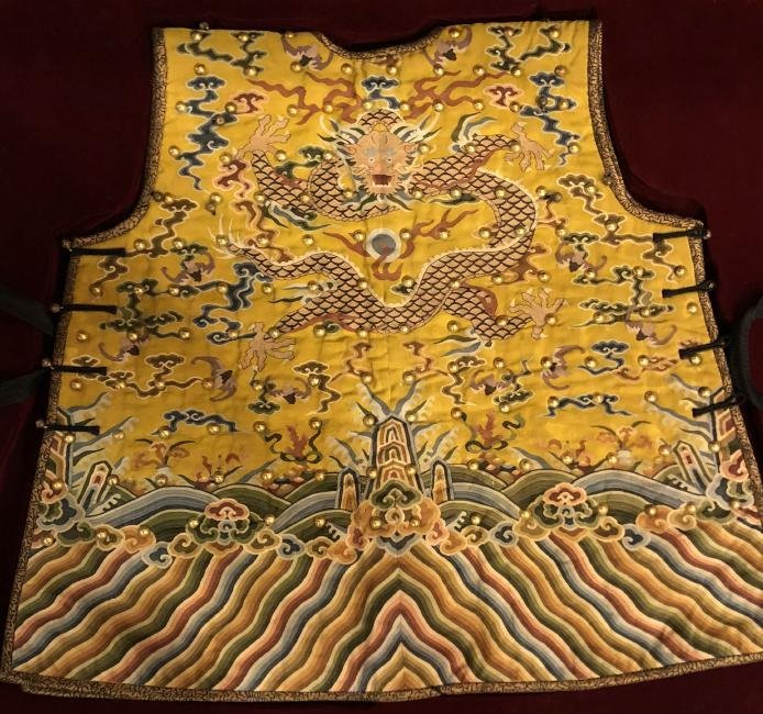 Very Rare Imperial Yellow Embroidered Dragon Robe/Armor - 5