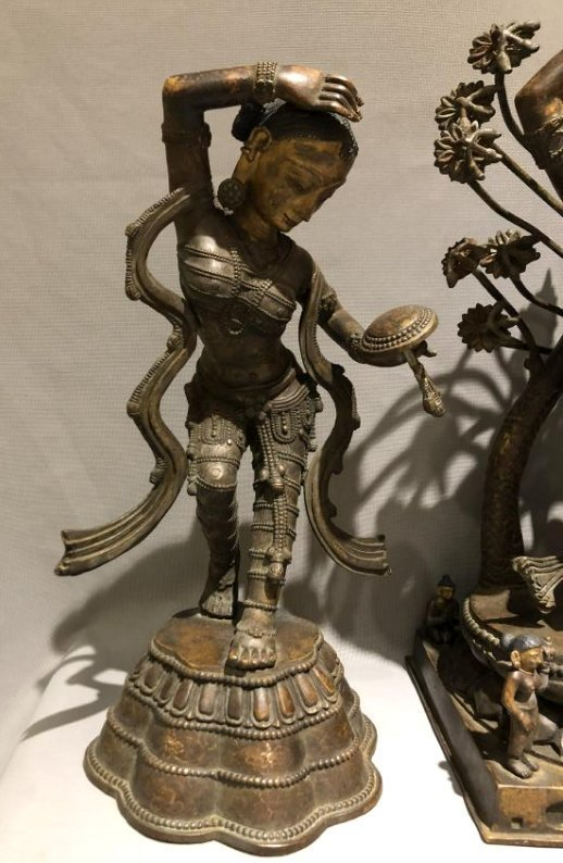 Bronze Figure of Dancing Dakini and Worshipers - 4