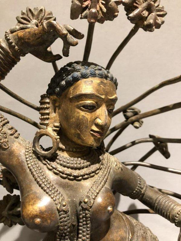 Bronze Figure of Dancing Dakini and Worshipers - 5