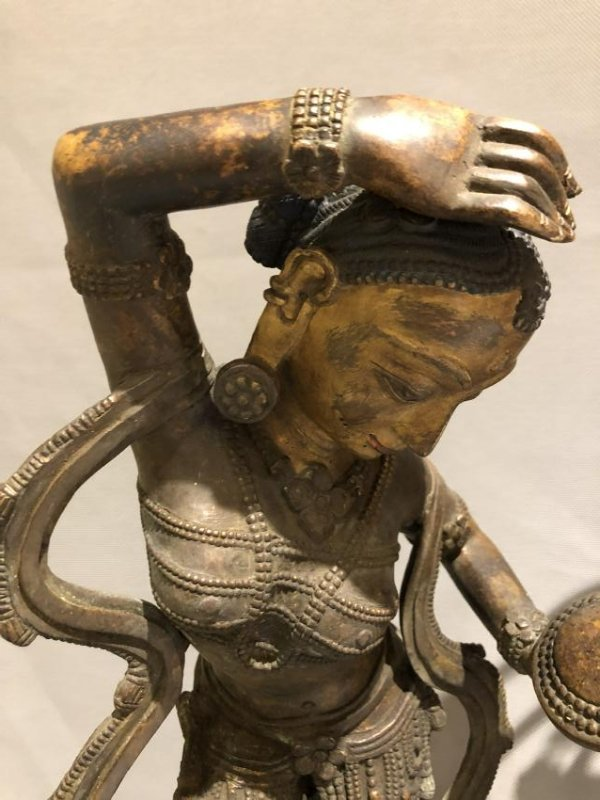 Bronze Figure of Dancing Dakini and Worshipers - 6