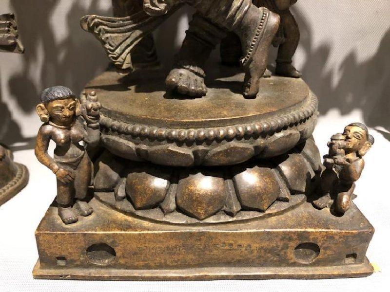 Bronze Figure of Dancing Dakini and Worshipers - 8