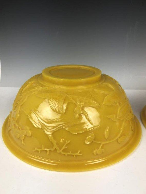 Pair of Large Peking Glass Bowls - 4