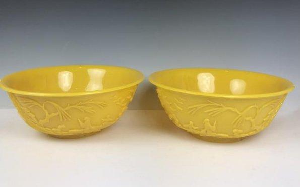 Pair of Large Peking Glass Bowls - 6