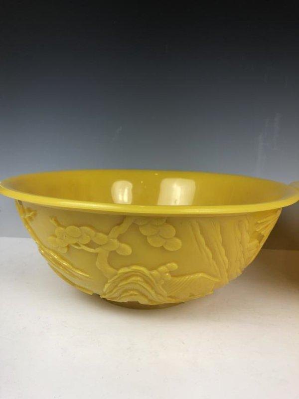 Pair of Large Peking Glass Bowls - 8