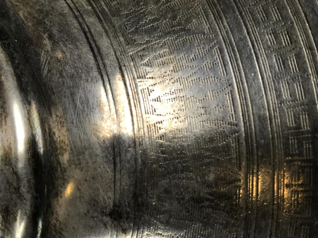 Russian Silver Samovar With Detailed Inscription And Ma - 16