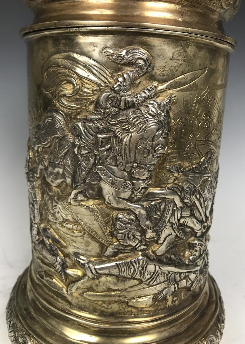 Russian silver Stein with Warrior Scene - 6