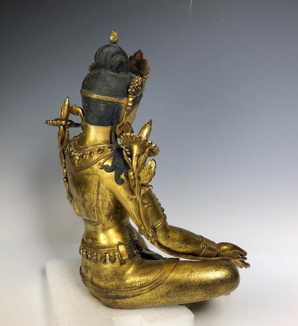 Large Gilt Bronze Figure of Shyama Tara - 8