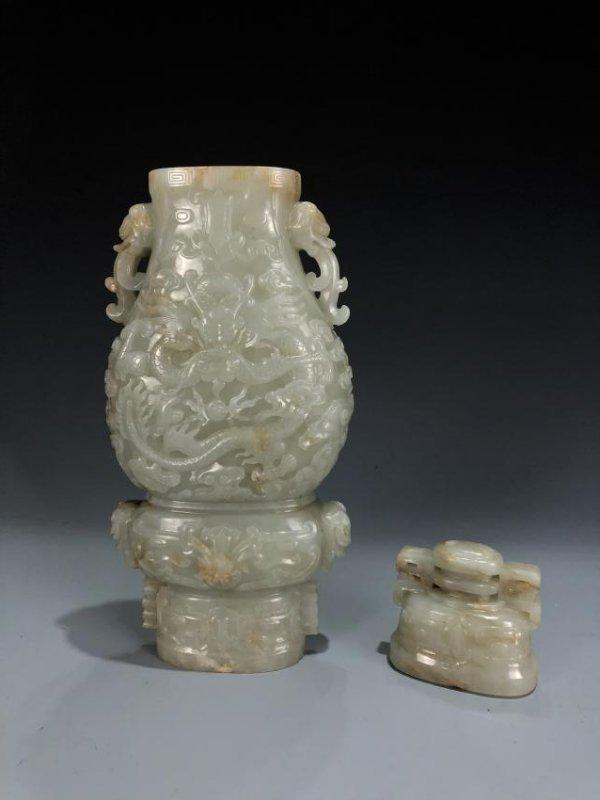 Jade Dragon Vase - 3