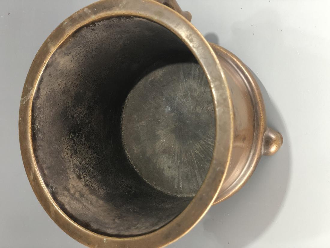 Bronze Tripod Censer With Mark - 2