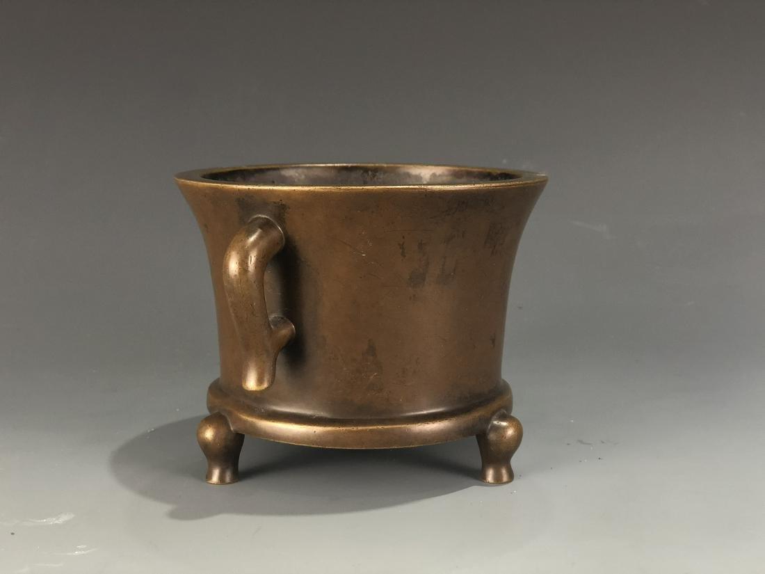 Bronze Tripod Censer With Mark - 5