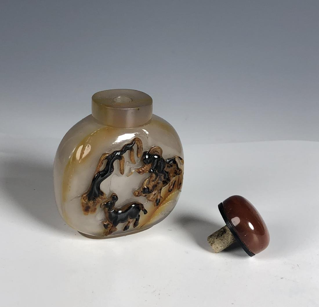 Chinese agate snuff bottle - 4