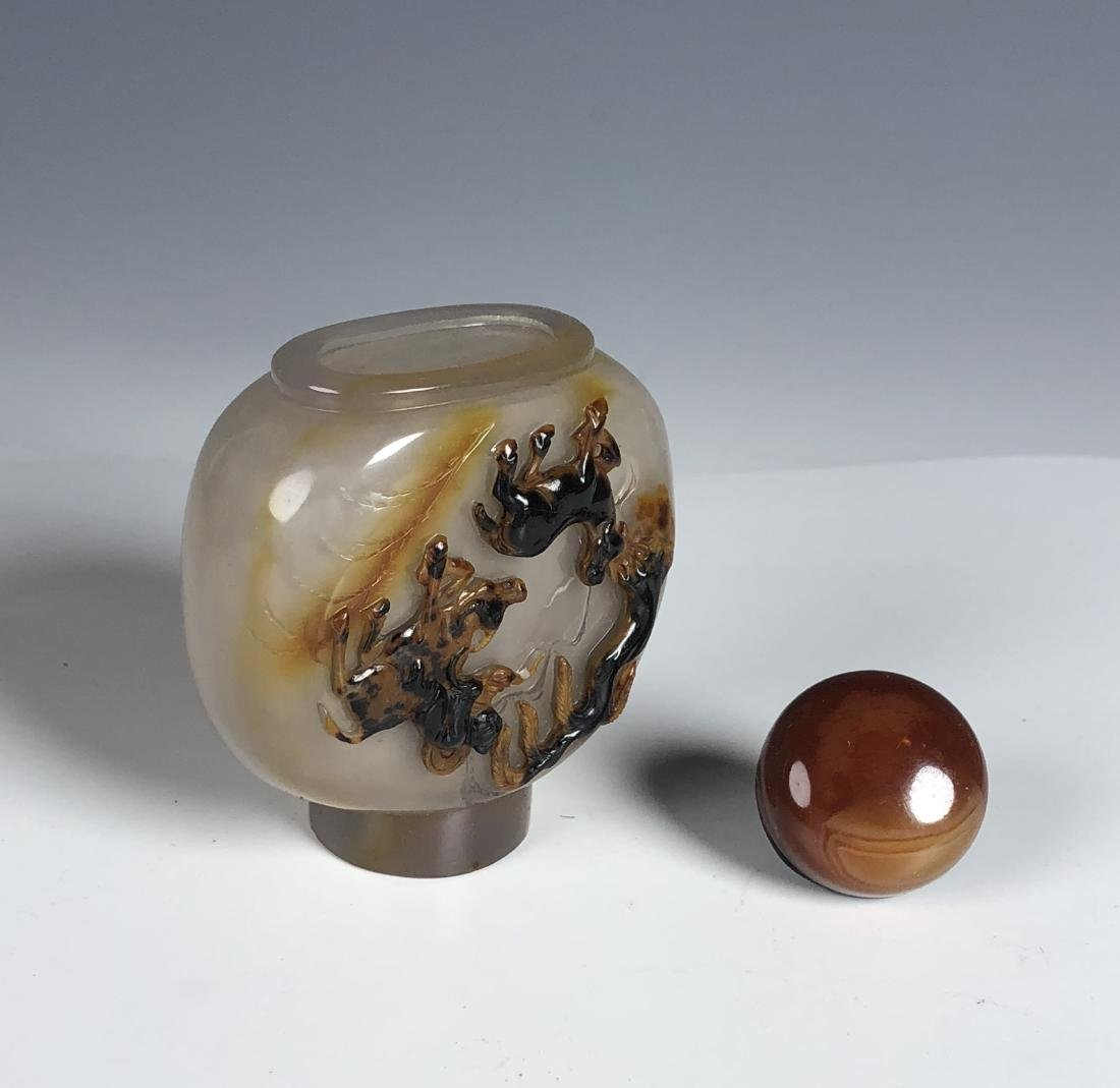 Chinese agate snuff bottle - 5