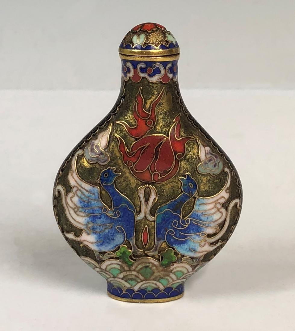 Chinese Cloisonné Enamelled Snuff Bottle
