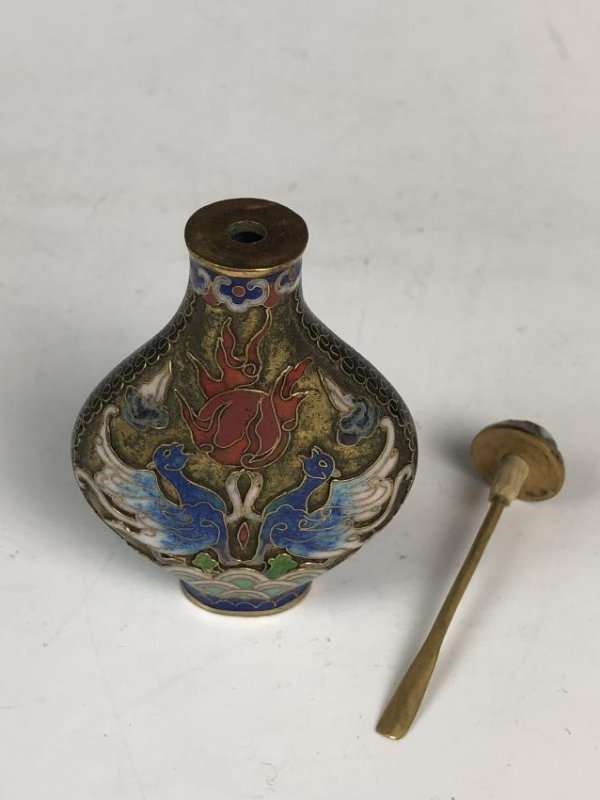 Chinese Cloisonné Enamelled Snuff Bottle - 7