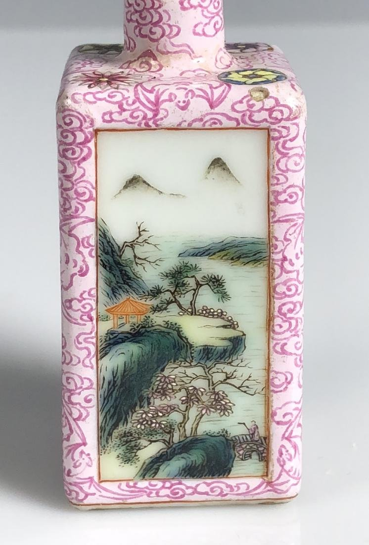 Chinese Famille Rose Porcelain Snuff Bottle - 4
