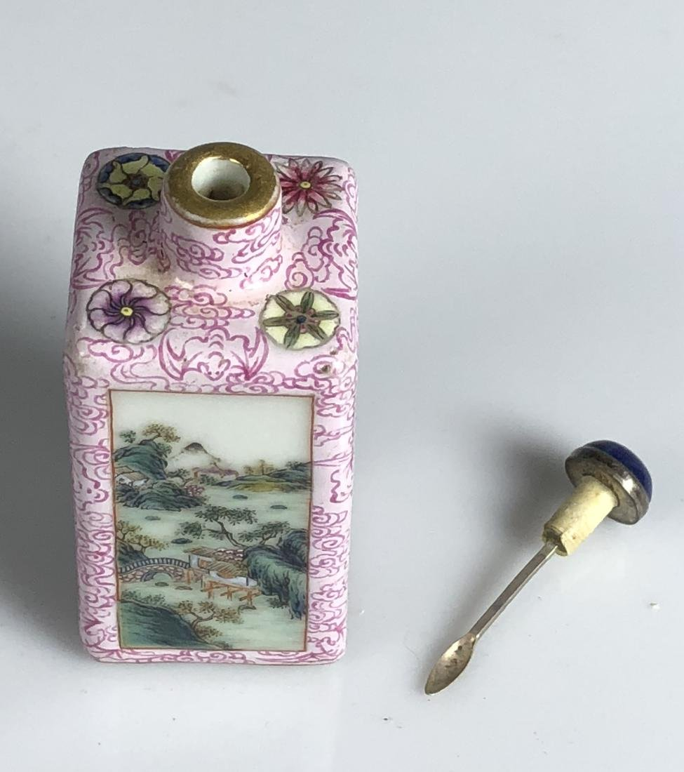 Chinese Famille Rose Porcelain Snuff Bottle - 6