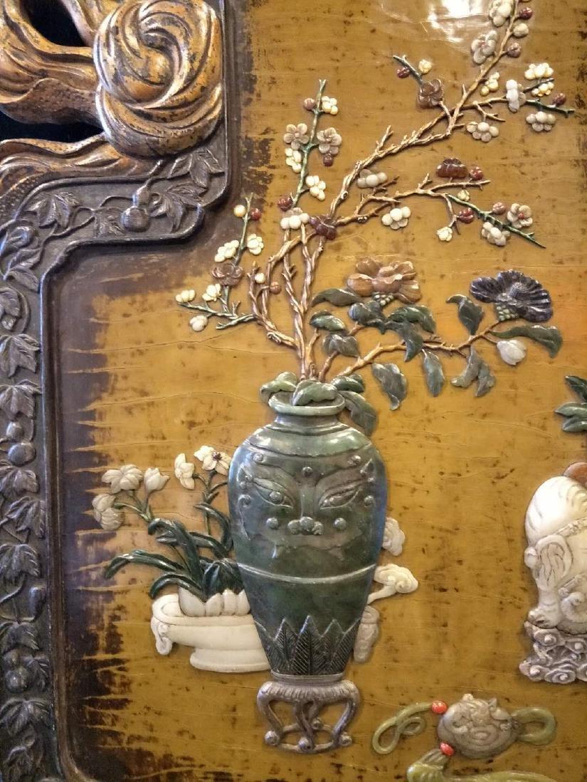 Hard wood frame with Stone Inlay Panel - 3