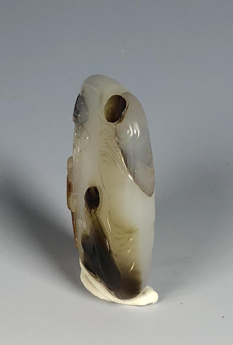 Agate Pendant of Seated Scholar - 6