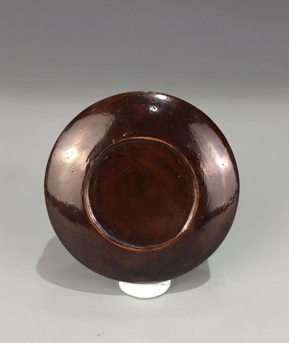 Lacquered Wood Circular Box with Cover - 7