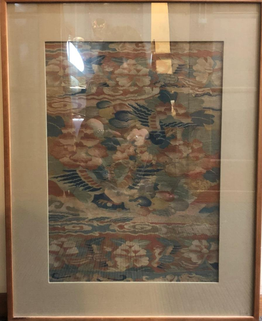 Framed Silk Kesi Embroidery Panel