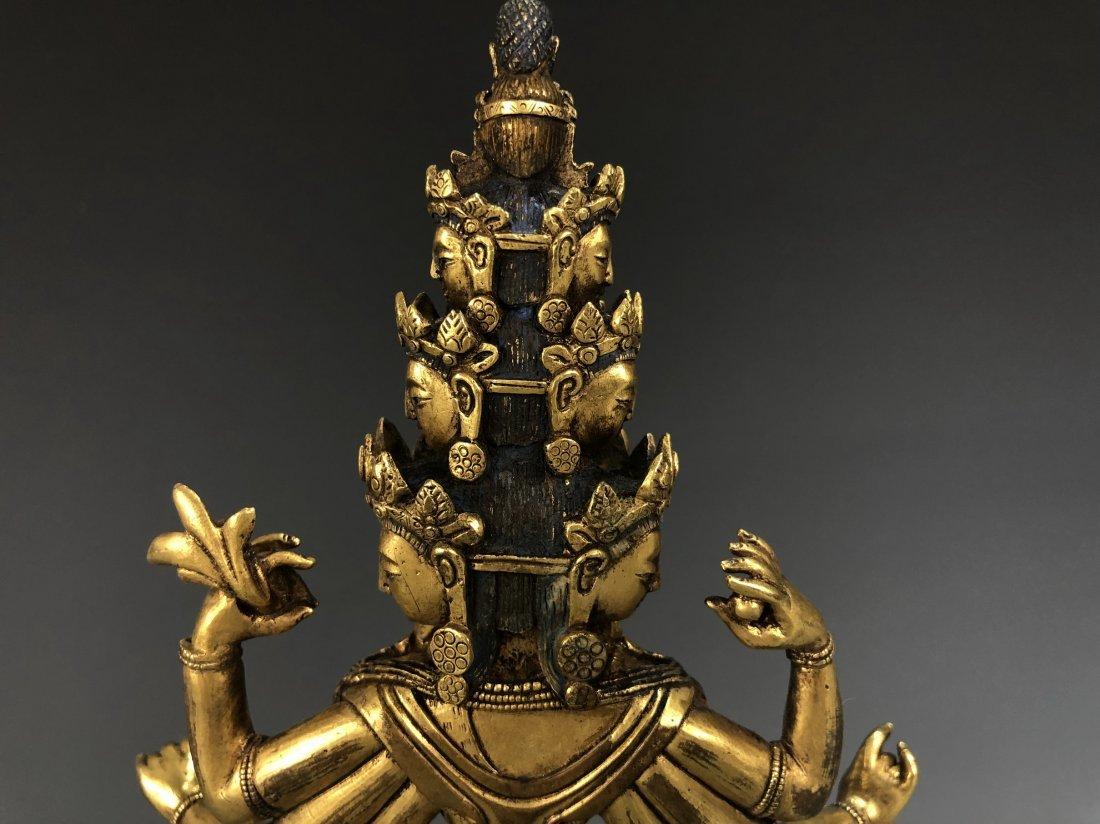Gilt Bronze Figure of EKADASAMUKHA AVALOKITESVARA - 5
