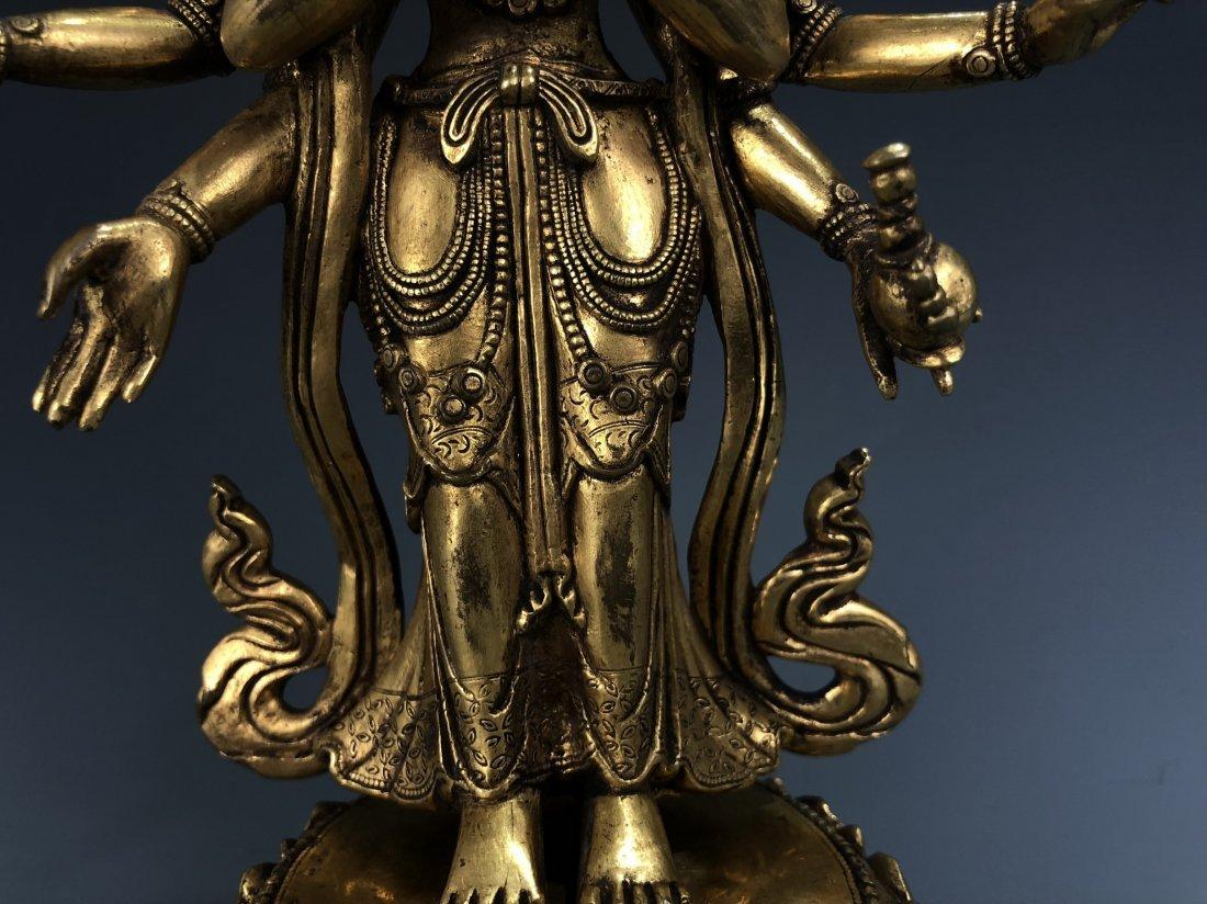 Gilt Bronze Figure of EKADASAMUKHA AVALOKITESVARA - 6