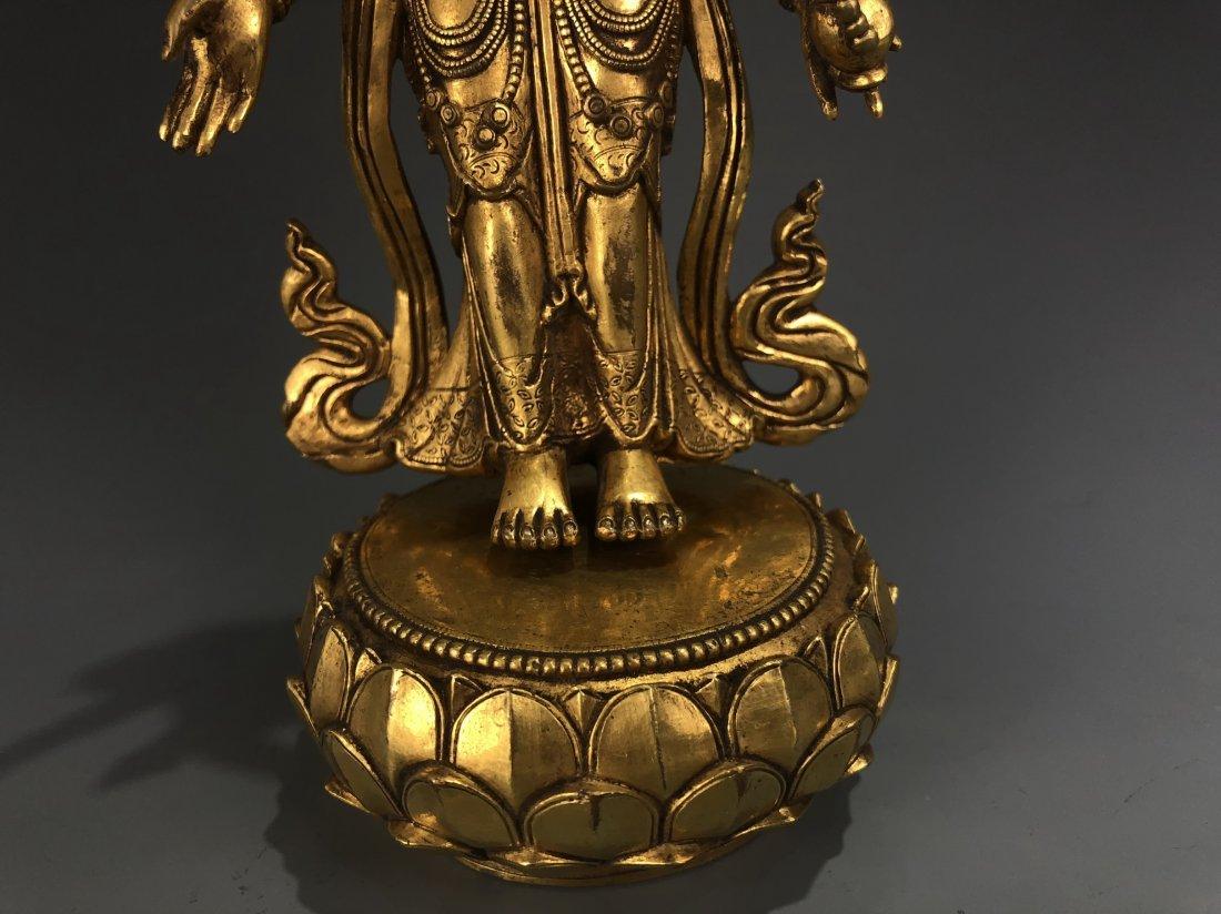 Gilt Bronze Figure of EKADASAMUKHA AVALOKITESVARA - 7