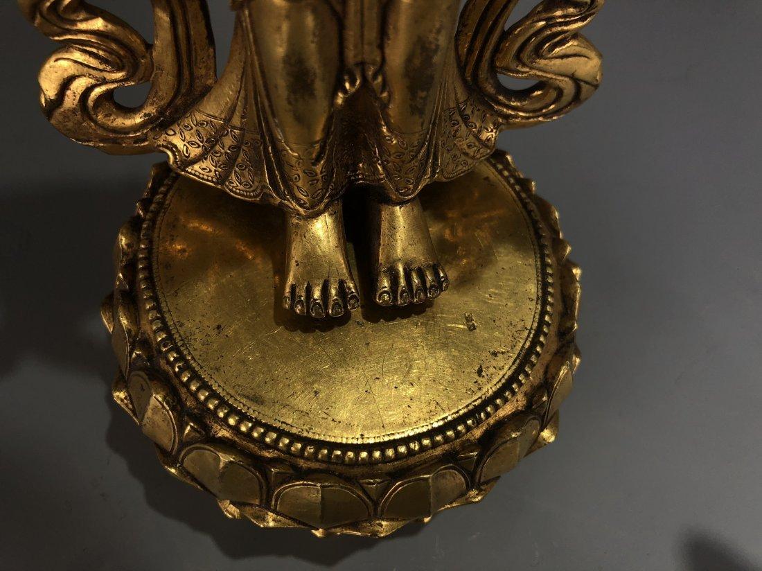 Gilt Bronze Figure of EKADASAMUKHA AVALOKITESVARA - 8