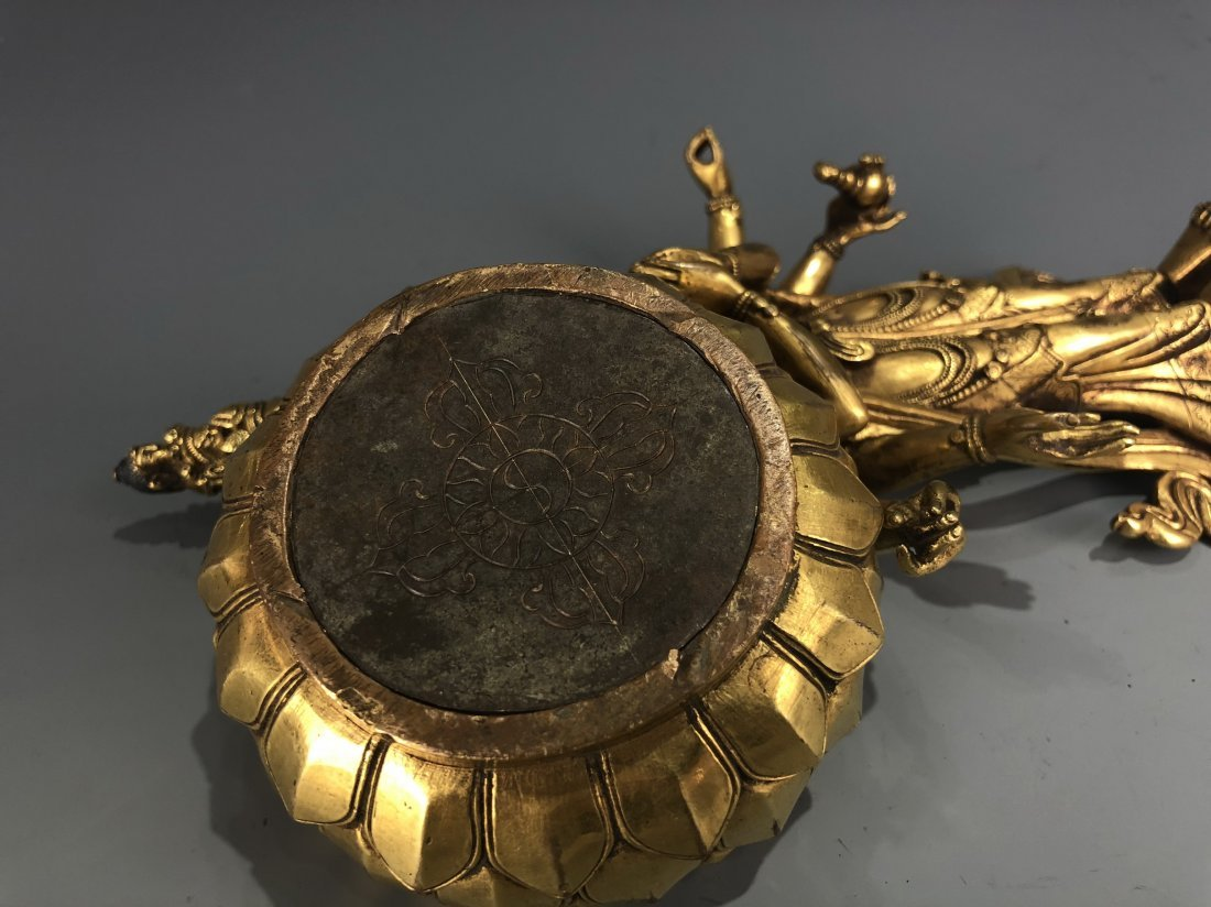 Gilt Bronze Figure of EKADASAMUKHA AVALOKITESVARA - 9