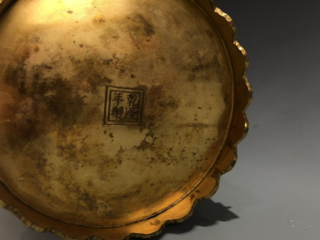 Cloisonne Enamel Gilt Bronze Lingzhi Flowerpot W/ Mark - 9